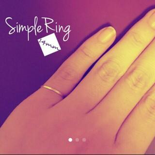 シンプルピンキーリング(リング(指輪))