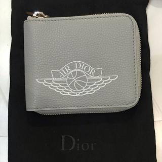 クリスチャンディオール(Christian Dior)のAIR DIOR エアディオール ウォレット グレー 二つ折り財布 箱付き未使用(折り財布)