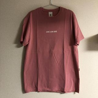 ワンエルディーケーセレクト(1LDK SELECT)のAimé Leon Dore ロゴ Tシャツ ピンク M(Tシャツ/カットソー(半袖/袖なし))