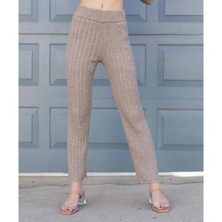 アリシアスタン(ALEXIA STAM)のWide Rib Knit Pants リブニットパンツ(その他)