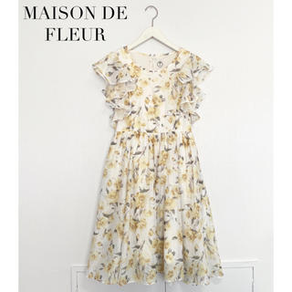 メゾンドフルール(Maison de FLEUR)の【MAISON DE FLEUR】花柄ワンピース メゾンドフルール(ひざ丈ワンピース)
