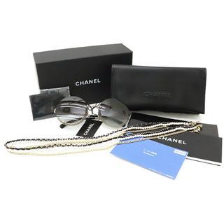 シャネル(CHANEL)のCHANEL サングラス ラウンドシェイプ アイウェア 丸形 グレー A2921(サングラス/メガネ)