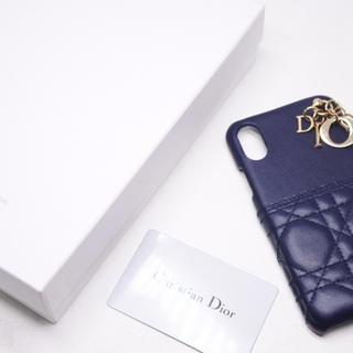 クリスチャンディオール(Christian Dior)のDIOR ディオール 携帯ケース iphone x xs ケース ネイビー (iPhoneケース)