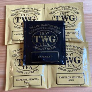 ディーンアンドデルーカ(DEAN & DELUCA)のTWG グリーンティー アールグレイ☆高級紅茶☆ 5袋 コットンティーバック(茶)