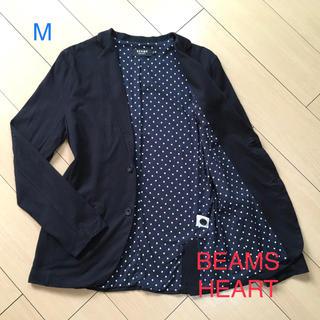 ビームス(BEAMS)のビームス★コットンニットジャケット★アンコン ブラック テーラードA855(テーラードジャケット)