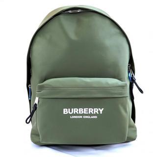 バーバリー(BURBERRY)の【新品未使用】BURBERRY LONDON リュックサック   ロゴ カーキ(バッグパック/リュック)
