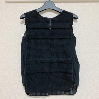 デプレ(DES PRES)のDES PRES 黒 ノースリーブ トップス(シャツ/ブラウス(半袖/袖なし))
