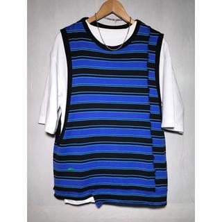 ジエダ(Jieda)のJieDa SWITCHING BORDER BIG N/S BLACK 2(Tシャツ/カットソー(半袖/袖なし))