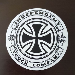インディペンデント(INDEPENDENT)の(直径12.8cm)INDEPENDENT ステッカー(スケートボード)