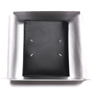 マルタンマルジェラ(Maison Martin Margiela)の正規品 メゾンマルジェラ ラージレザーウォレット ブラック マルジェラ 財布(折り財布)