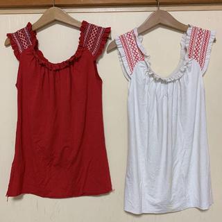 ザラ(ZARA)のZARA キャミソール Mサイズ 2枚セット(Tシャツ/カットソー)