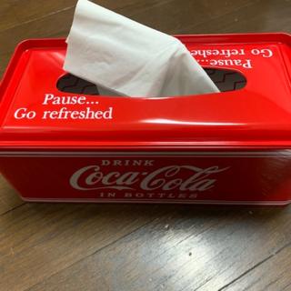 コカコーラ(コカ・コーラ)のコカ・コーラ ブリキのティッシュケース。(その他)