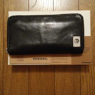 ディーゼル(DIESEL)の大人気 DIESEL ディーゼル 長財布 ラウンドファスナー ブラック(長財布)