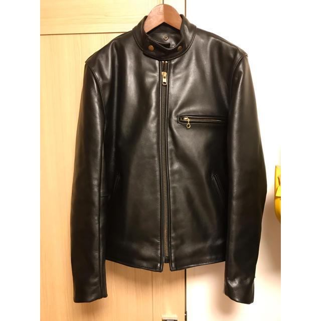 VANSON(バンソン)のVANSON バンソン B 42 牛革 シングル  シングルライダース  メンズのジャケット/アウター(ライダースジャケット)の商品写真