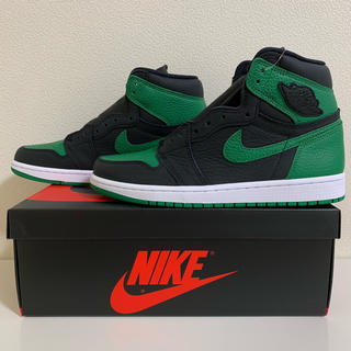 ナイキ(NIKE)のNIKE AIR JORDAN1 BLACK/PINE GREEN 26.0cm(スニーカー)