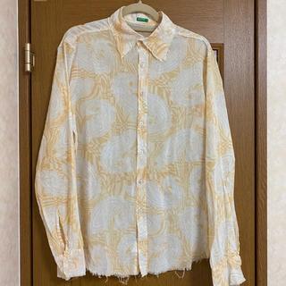vintage damage Paisley pattern shirt(シャツ)
