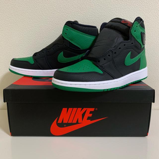 NIKE(ナイキ)のNIKE AIR JORDAN1 BLACK PINE GREEN 26.5cm メンズの靴/シューズ(スニーカー)の商品写真