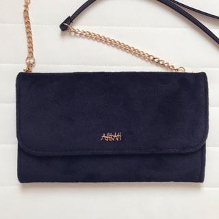 アーカー(AHKAH)のAHKAH チェーン付きふわふわお財布バッグ(ショルダーバッグ)