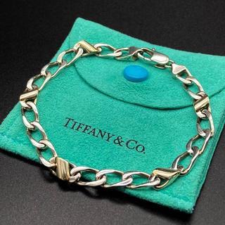ティファニー(Tiffany & Co.)の希少 美品 ティファニー 喜平 コンビ ブレスレット JG50(ブレスレット)