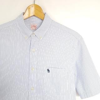 スタンダードカリフォルニア(STANDARD CALIFORNIA)の★STANDARD CALIFORNIA ストライプ ワンポイント 刺繍 シャツ(シャツ)
