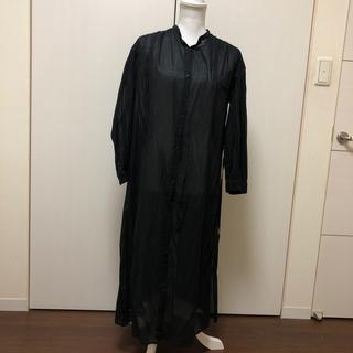 アントマリーズ(Aunt Marie's)のシャツワンピース 黒(ロングワンピース/マキシワンピース)