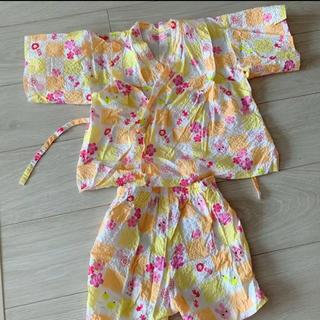 ミキハウス(mikihouse)の甚平 90 女の子 80 ミキハウス 浴衣 夏 じんべい 浴衣(甚平/浴衣)