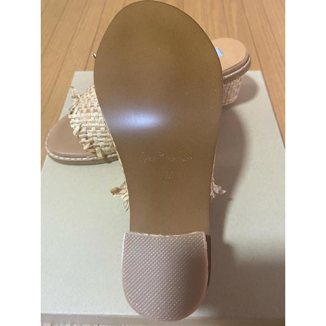 SeaRoomlynn(シールームリン)のsearoomlynn  ストローフリンジミュール サンダル 新品 レディースの靴/シューズ(ミュール)の商品写真