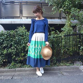 ビュルデサボン(bulle de savon)の新品 haupia テンポドロップのある風景 スカート(ロングスカート)