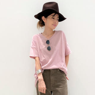 アパルトモンドゥーズィエムクラス(L'Appartement DEUXIEME CLASSE)のL'APPARTEMENT GOOD GRIEF Relaxed Tee ピンク(Tシャツ(半袖/袖なし))