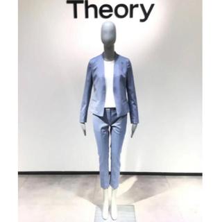 セオリー(theory)の着用一度のみ 超美品Theory スーツ 定価85320円(ノーカラージャケット)