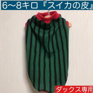 6〜8キロ『スイカの皮』メルロコ ダックス 犬服(ペット服/アクセサリー)