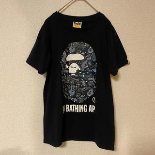 アベイシングエイプ(A BATHING APE)の美品 ア ベイジング エイプ スペースカモ Tシャツ S カモフラージュ(Tシャツ(半袖/袖なし))