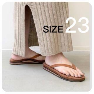 アパルトモンドゥーズィエムクラス(L'Appartement DEUXIEME CLASSE)の新品【RAINBOW SANDALS】DOUBLE Sandals 23(ビーチサンダル)