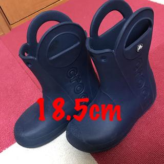 crocs - ★美品★クロックス CROCS ネイビー レインブーツ 18.5cm