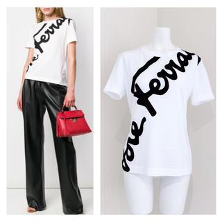 サルヴァトーレフェラガモ(Salvatore Ferragamo)のsalvatore ferragamo  ビッグロゴ コットン Tシャツ(Tシャツ(半袖/袖なし))