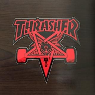 スラッシャー(THRASHER)の(縦9cm横10cm)THRASHER ゴーストステッカー(スケートボード)