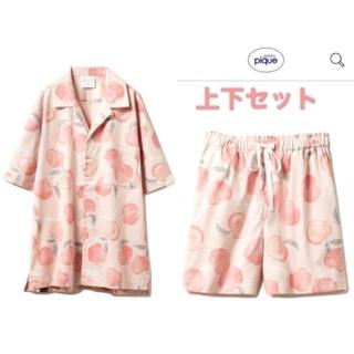 gelato pique - gelato pique フルーツモチーフシャツ&パンツ 上下セット ピーチ
