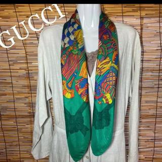 グッチ(Gucci)のグッチ GUCCI タッセル柄 大判スカーフ(バンダナ/スカーフ)