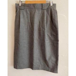 アイグナー(AIGNER)のAIGNER アイグナー スカート グレー カシミヤ混 サイズ42(ひざ丈スカート)