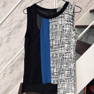 ビーシービージーマックスアズリア(BCBGMAXAZRIA)のBCBGMAXAZRIAデザインカットソー(カットソー(半袖/袖なし))