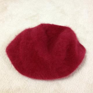 ふわっふわの赤ベレー帽(*^o^*)(ハンチング/ベレー帽)