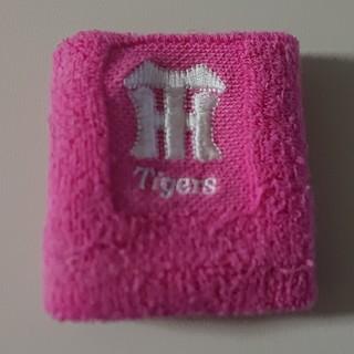 ハンシンタイガース(阪神タイガース)の阪神タイガース☆トリコ女子☆ピンク色リストバンド☆(応援グッズ)