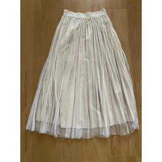 アンティックラグ(antic rag)のanticrag プリーツスカート チュールスカート ロングスカート(ロングスカート)