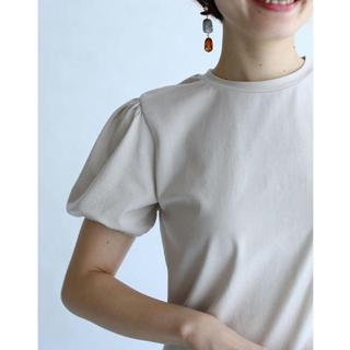 カワイイ(cawaii)のFRENCH PAVE  パフスリーブTシャツ 黒 トップス カットソー(カットソー(半袖/袖なし))