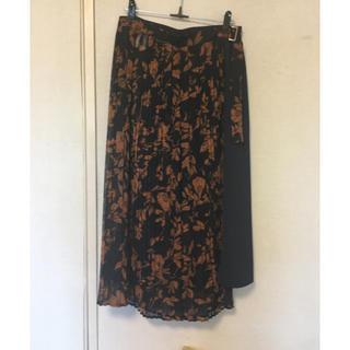 ハレ(HARE)の花柄プリーツ巻スカート(ひざ丈スカート)