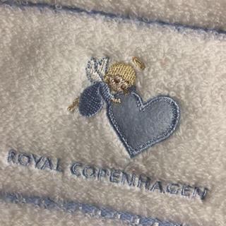 ロイヤルコペンハーゲン(ROYAL COPENHAGEN)のロイヤルコペンハーゲンフェイスタオルハート天使bふんわり(タオル/バス用品)