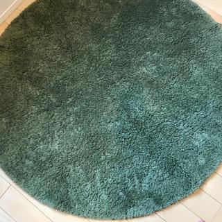 ムジルシリョウヒン(MUJI (無印良品))の無印良品 円形 ラグ 緑(ラグ)