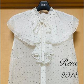 ルネ(René)のRene♡ 2018年 フリルボウタイブラウス(シャツ/ブラウス(半袖/袖なし))