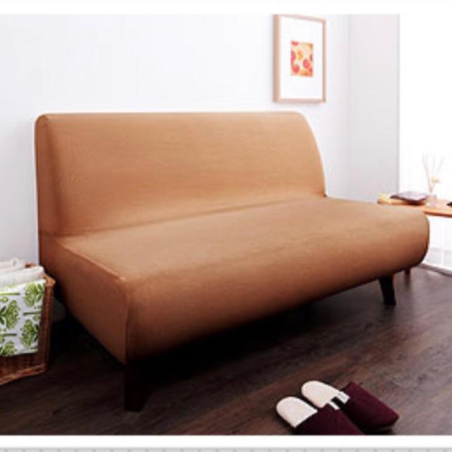 ソファーカバー 2人掛け 肘なし タオル地フィットタイプ インテリア/住まい/日用品のソファ/ソファベッド(ソファカバー)の商品写真