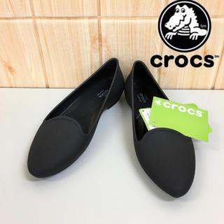 クロックス(crocs)の【CROCS】パンプス(23) レインシューズ   フラットシューズ 黒(レインブーツ/長靴)
